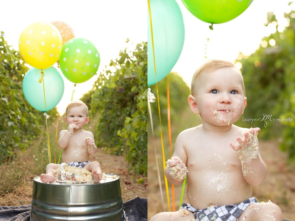 GusWhisnandCakeSmashBlog 0012 1024x768 Gus is One! | Bakersfield Cake Smash Session