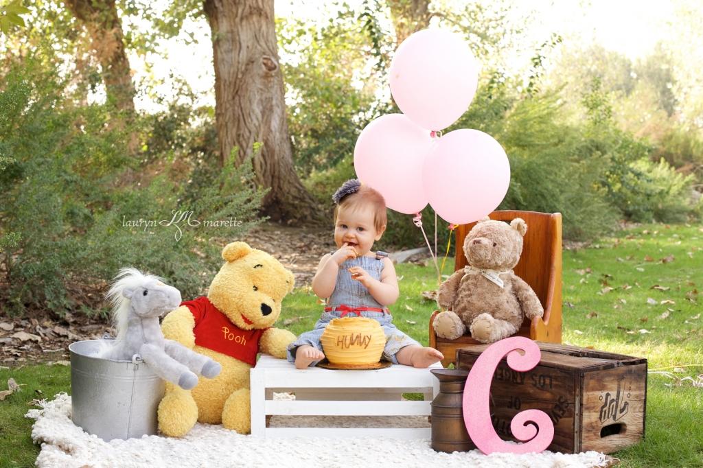 ChloeCakeSmashBlog 0007 1024x682 Chloes Cake Smash | Bakersfield Child Photographer