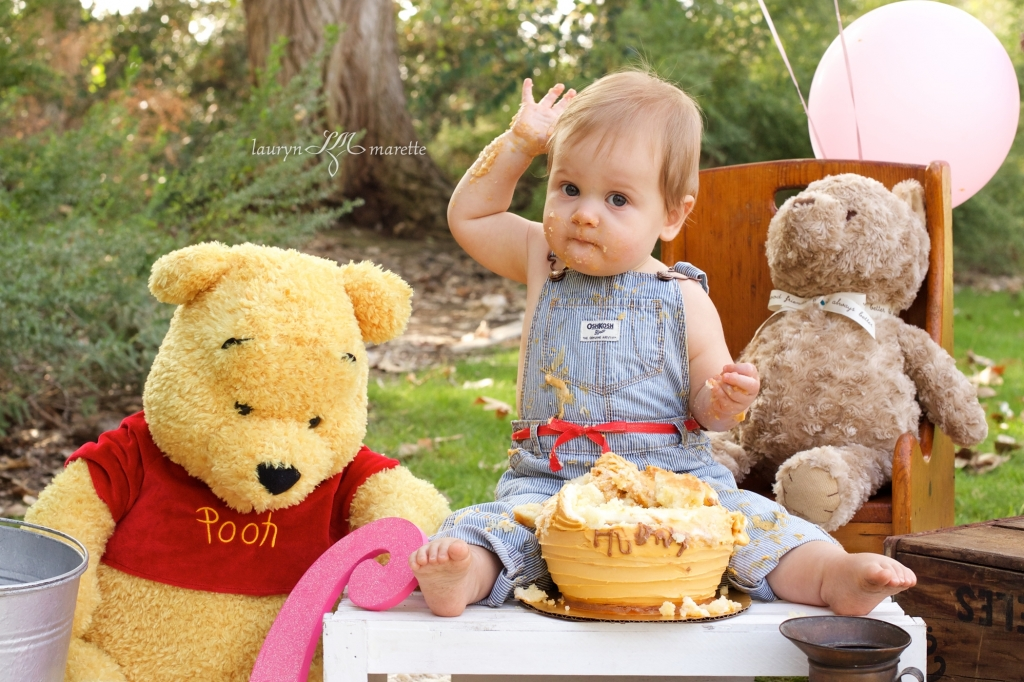 ChloeCakeSmashBlog 0009 1024x682 Chloes Cake Smash | Bakersfield Child Photographer