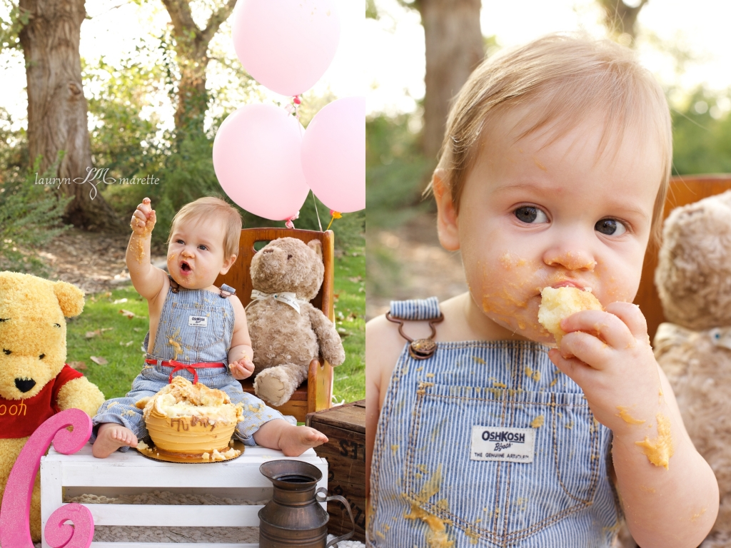ChloeCakeSmashBlog 0010 1024x768 Chloes Cake Smash | Bakersfield Child Photographer