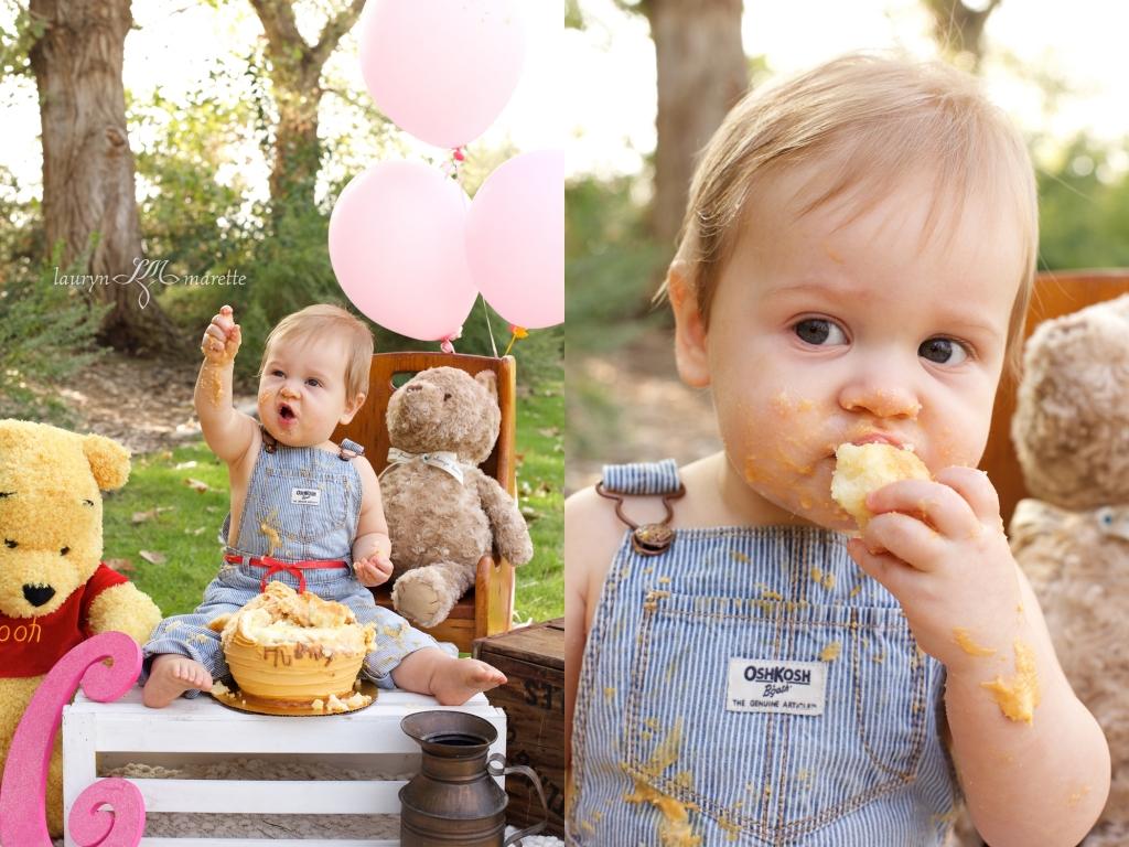ChloeCakeSmashBlog 0010 1024x768 Chloes Cake Smash | Bakersfield Child Photographer