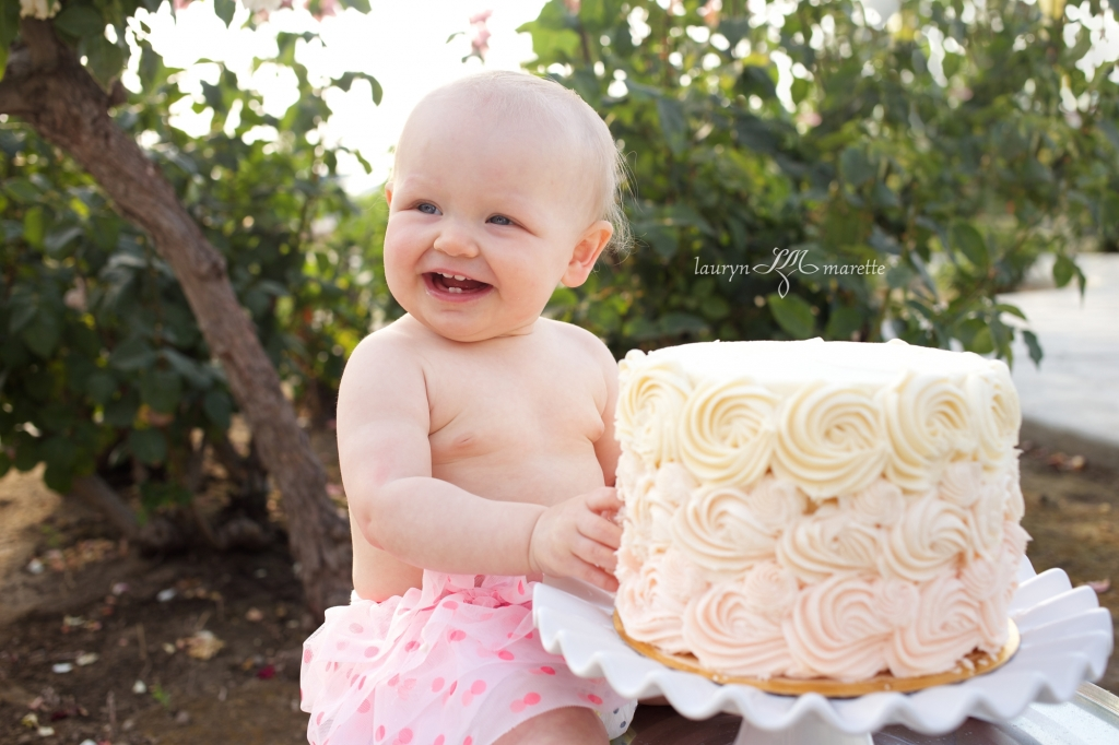 KatherineCakeSmashBlag 0002 1024x682 Katherines Cake Smash | Bakersfield Child Photographer